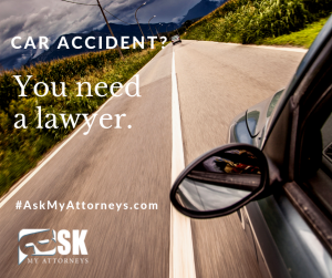 car accident - lawyer - road