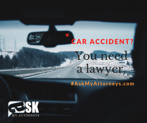 car accident - snowy- banner