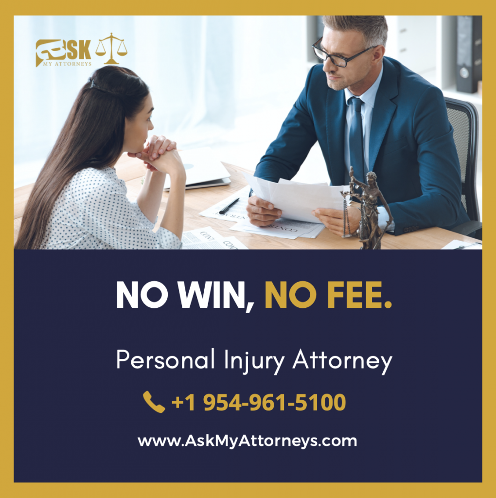 no win-no fee personal injury attorney talking to a car accident victim