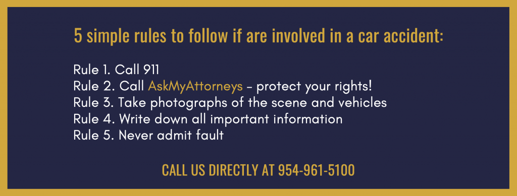 what to do if I am a victim of car accident in florida